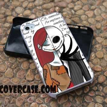 Sally and Jack case for iPhone 4/4S/5/5S/5C/6/6+ case,samsung S3/S4/S5 case,samsung note 3/4 Case