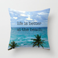 beach life Throw Pillow by Star4ever  | Society6