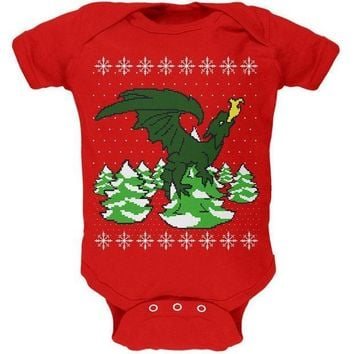 ICIK8UT Ugly Christmas Sweater Dragon Winter Soft Baby One Piece