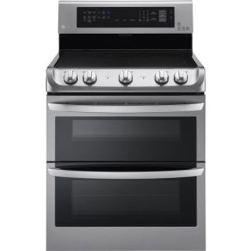 LG - 7.3 Cu. Ft. Self-Cleaning Freestanding Double Oven Electric Convection Range - Stainless Steel