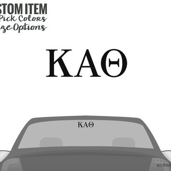 KAO Kappa Alpha Theta Classic Letter Car Laptop Dorm Window Vinyl Sorority Decal Sticker