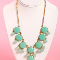 Bauble-y's World Mint Statement Necklace