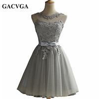 Elegant Lace Diamond Summer Dress Sleeveless Lovely Short Dress For Women