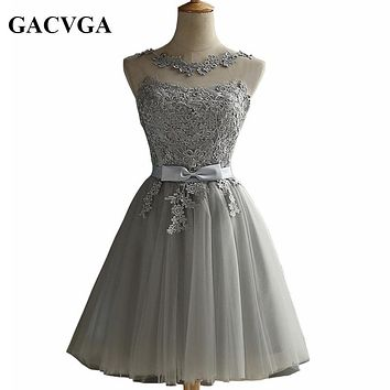 GACVGA 2017 Elegant Lace Diamond Summer Dress Sleeveless Lovely Short Dress For Women Sexy Slim christmas Party Dresses Vestidos