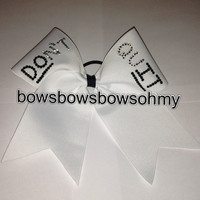 Don't quit cheer bow by BowsBowsBowsohmy on Etsy
