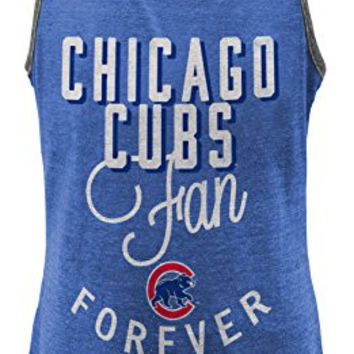 MLB  Chicago Cubs Girls 7-16 I'M A Fan Forever Racer Tank-M (10-12)