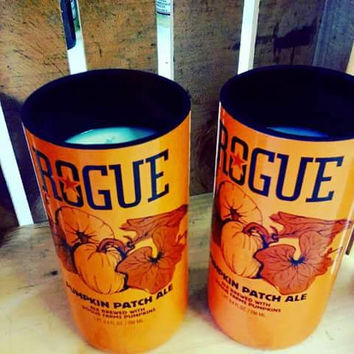 One Left! Rogue Craft Beer Pumpkin Patch ReClaimed Bottle Natural Soy Candle