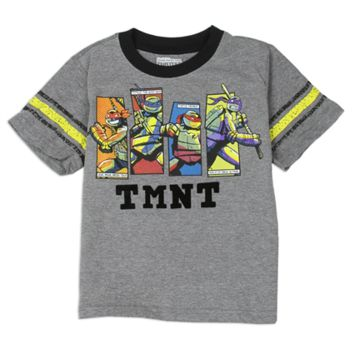 Ninja Turtles Toddler Boy's TMNT Short-Sleeve Tee Gray