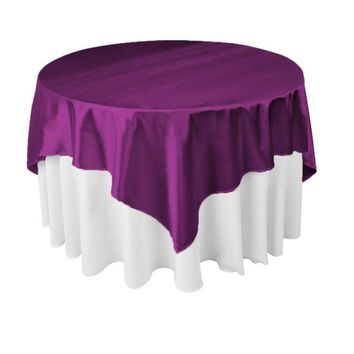 145cm x 145cm Square Satin Tablecloth Table Cover 21Colors for Wedding Party Restaurant Banquet Decorations