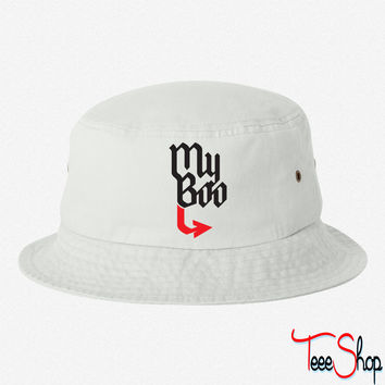 My Boo (red half) 8 bucket hat