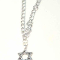 Unisex Star of David Necklace - Magen David