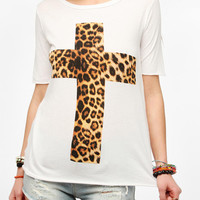Truly Madly Deeply Leopard Cross Tee