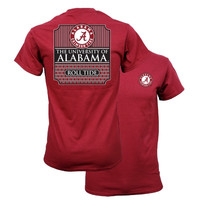 Southern Couture Alabama Crimson Tide Classic Preppy University of Bama Girlie Bright T Shirt