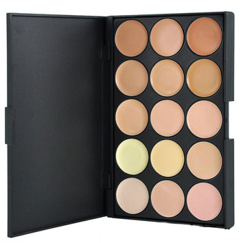 Cosmetic 15 Colours Natural Colour Foundation Concealer Palette