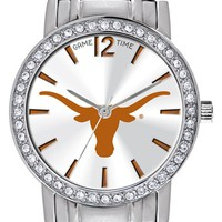 Women's Game Time Watches 'College All Star - University of Texas, Austin' Crystal Bezel Bracelet Watch, 32mm