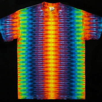Youth Tie Dye T-Shirt kids childs Teens Psychedelic Candy Colors DNA Grateful Dead Art to Wear by Big Blue Dyes size youth Large