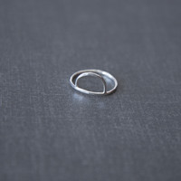 Demi Moon Ring in Sterling
