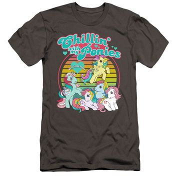 My Little Pony Premium Canvas T-Shirt Chillin with my Ponies Charcoal