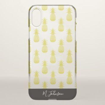Personalized Pineapple Patterned iPhone X Case