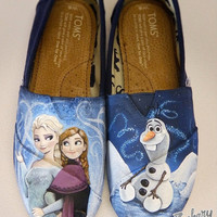 Disney's Anna & Elsa Toms Shoes