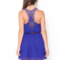 Lace Back Belt Dress - JUST ARRIVED