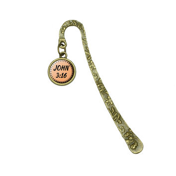 Bible Verse John 3-16 Brass Bookmark