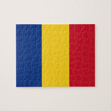 Puzzle with Flag of Romania