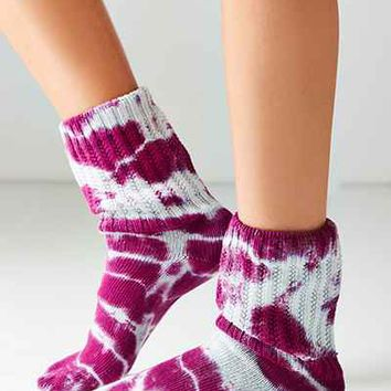 EG Smith Tie-Dye Slouchy Sock - Urban Outfitters