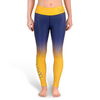 Michigan Wolverines Womens Official NCAA Gradient Print Leggings