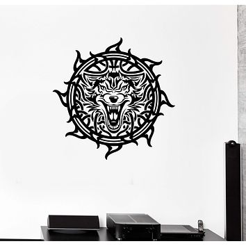 Wall Decal Celtic Patterns Irish Wolf Ireland Room Art Vinyl Stickers Unique Gift (ig2914)