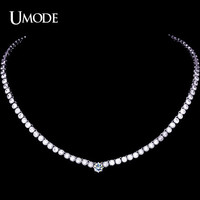 UMODE Female Pendant & Necklace with 102pcs 0.1 carat CZ & one 0.75 carat CZ in Center Fashion Necklace for Women UN0052