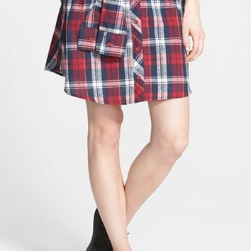 Junior Women's PPLA Tie Waist Plaid Skirt
