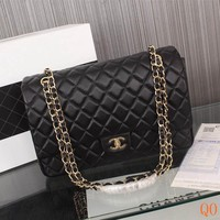 HCXX 19Sep 106 B Fashion Pop 1119 Maxi Classic Embossing Chain Flap Bag Casual Quilted Bag 33-22-10cm 340