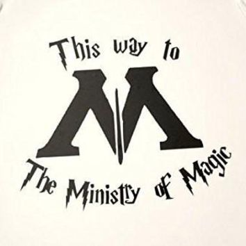 This Way to the Ministry of Magic Funny Harry Potter Decal Sticker for Car Windows Room