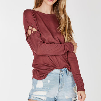 Don't Trip Cold Shoulder Top