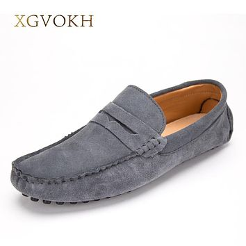 Men shoes fashion Soft Loafers High Quality Leather Shoes Man Flats Spring and Style light Driving Shoes