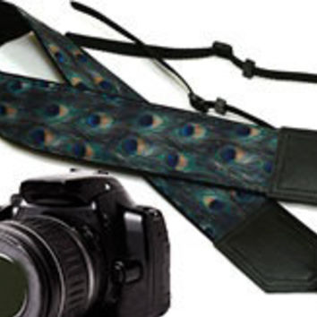 Peacock Camera strap. DSLR / SLR Camera Strap. Camera accessories.  For Sony, canon, nikon, panasonic, fuji and other cameras.