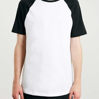 White/Black Raglan T-Shirt