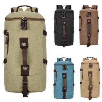 2018 Casual Bucket bag,Men's Canvas Backpack Bag, Vintage Luggage Travel Bags,Rucksack Five Color Choose