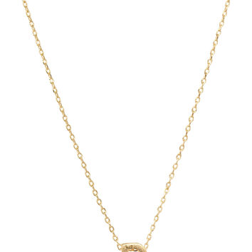 Be Yourself Initial Necklace - D