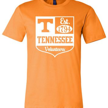 Official NCAA University of Tennessee Volunteers, Knoxville Vols UT UTK Women's Est 1794 White Unisex T-Shirt - 41TN-1B
