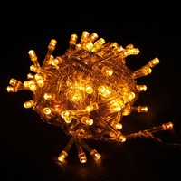 Yellow LED Holiday Party String Light for Room Garden Home Christmas Party Festival Decoration (100 Led, 10M)