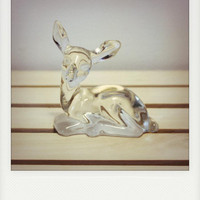 Fenton Clear Glass Deer Figurine by WestAshVintage on Etsy