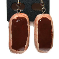 Chocolate Donut Bar Dangle Earrings