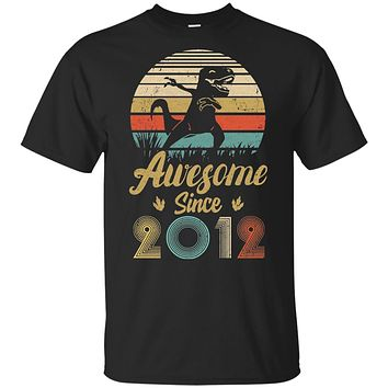 Awesome Since 2012 7th Years Old Dinosaur Birthday Gift Youth
