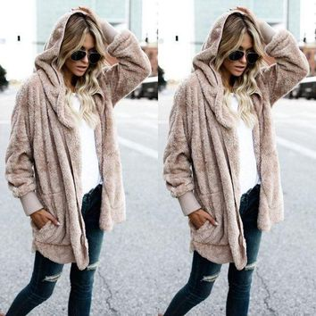 DCCKHQ6 Taupe - Women's Long Oversized Loose Knitted Sweater Cardigan Outwear Coat New