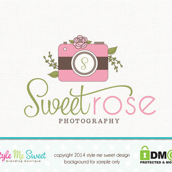 Premade Camera Logo Photography Logo Design Hand Drawn Small Business Logo