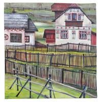 Transylvania, Romania, Picturesque Painted Scenery Cloth Napkin