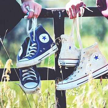 Converse All Star Sneakers Adult Leisure High-Top Leisure shoes Roses
