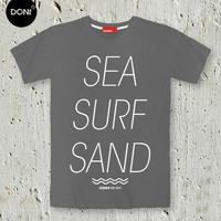 SEA SURF SAND : Vacation T-shirt,quote T-shirt, Beach Tshirt, Holiday Shirt, Friend Gift ,Tumblr,Pinterest,Minimal T-shirt,Simply Shirt,Swag